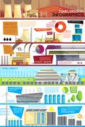 Industrial Waste Disposal Flat Infographic Poster Stock Illustration
