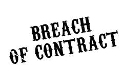 Breach Of Contract rubber stamp Stock Illustration