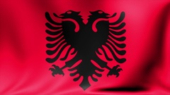 Albania Flag. Background Seamless Looping Animation. 4K High Definition Video Stock Footage