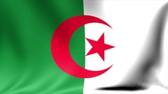 Algeria Flag. Background Seamless Looping Animation. 4K High Definition Video Stock Footage