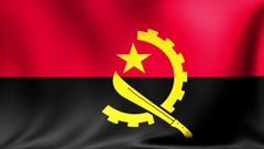Angola Flag. Background Seamless Looping Animation. 4K High Definition Video Stock Footage
