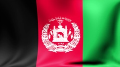 Afghanistan Flag. Background Seamless Looping Animation. 4K High Definition Stock Footage