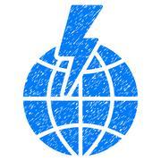Global Shock Grainy Texture Icon Stock Illustration