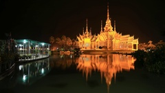 Time-lapse of Wat Luang Pho Toh temple, Thailand Stock Footage