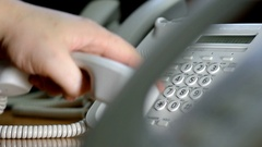 Dialing on the ip-phone Stock Footage