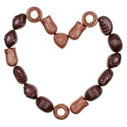 Heart from chocolate candies Stock Photos