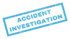 Accident Investigation Rubber Stamp Stock Illustration