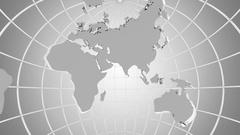 Rotating of Globe. A look inside Stock Footage