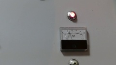 Ammeter With Lit Lamp and Trembling Arrow. Stock Footage
