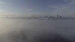 The right bank of Kiev, heavy fog Stock Footage