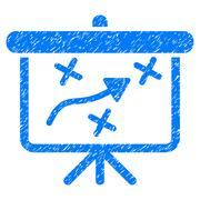 Strategy Path Demonstration Board Grainy Texture Icon Stock Illustration