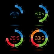 Year month day date time, season half calendar Stock Illustration