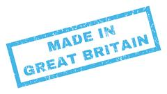 Made In Great Britain Rubber Stamp Stock Illustration