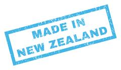Made In New Zealand Rubber Stamp Piirros