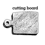 Cutting board in vintage style, vector Stock Illustration