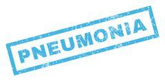 Pneumonia Rubber Stamp Stock Illustration