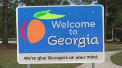 Welcome to Georgia sign, USA Stock Footage
