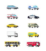 Motor Vehicles Icon Set Stock Illustration