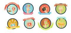 Volunteering Initiatives Icon Set Piirros