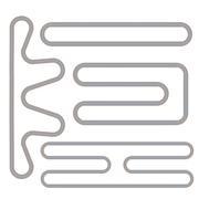 Simple Race Track Shape Set Stock Illustration