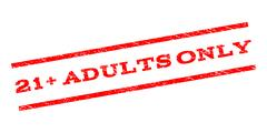 21 Plus Adults Only Watermark Stamp Stock Illustration