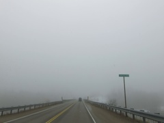 POV driving in heavy fog Stock Footage