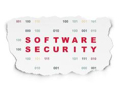 Privacy concept: Software Security on Torn Paper background Stock Illustration