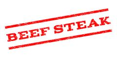 Beef Steak Watermark Stamp Stock Illustration