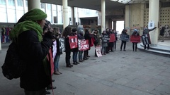 NGO protest-Youth initiatives for human rights Stock Footage