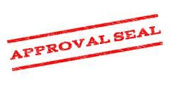 Approval Seal Watermark Stamp Stock Illustration