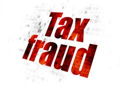 Law concept: Tax Fraud on Digital background Stock Illustration