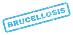 Brucellosis Rubber Stamp Stock Illustration