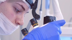 Modern Cosmetic laser equipment. The physician conducting the procedure for skin Stock Footage