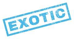 Exotic Rubber Stamp Stock Illustration