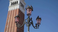 Venice, San Mark Square, Pigeons Stock Footage