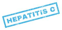 Hepatitis C Rubber Stamp Stock Illustration