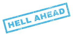 Hell Ahead Rubber Stamp Stock Illustration