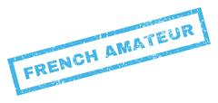 French Amateur Rubber Stamp Stock Illustration
