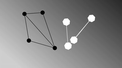 Connected dots showing network. Concept of business teamwork. Stock Footage