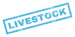 Livestock Rubber Stamp Stock Illustration