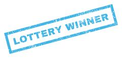 Lottery Winner Rubber Stamp Piirros