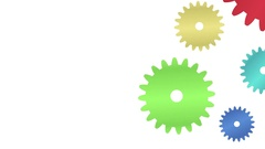 Cogs moving. Concept of teamwork. Symbol of business cooperation. Stock Footage