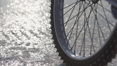 Special winter tyre Stock Footage