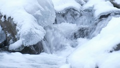 Washington, Mount Baker Snoqualmie National Forest, South Fork River, Ice Stock Footage