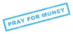 Pray For Money Rubber Stamp Stock Illustration