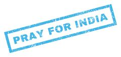 Pray For India Rubber Stamp Stock Illustration