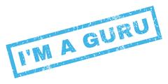I'M a Guru Rubber Stamp Stock Illustration