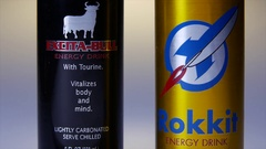 ENERGY DRINKS - GENERIC.  CLEARED ARTWORK. Stock Footage