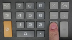 4K Stop Motion Animation Calculating with a Calculator Stock Footage