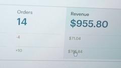 Computer Screen Website Revenue Closeup Stock Footage